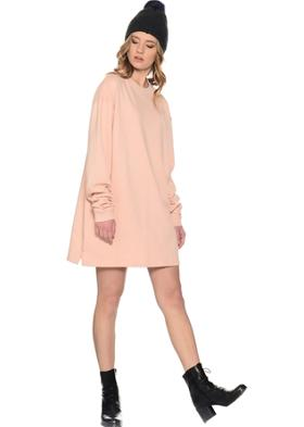 Missguided Pembe Tunik Elbise