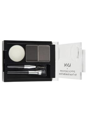 NYX Professional Makeup Eyebrow Cake Powder Black/gray Pudra