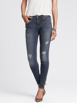 Banana Republic Distressed Wash Skinny Ankle Jean