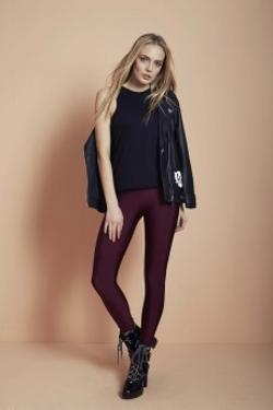 ANAİS MARGAUX paris Alexandra Shiny Bordo Tayt