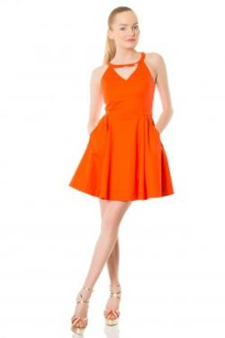 Gizia Eu036 Elbise 4157/02 Orange