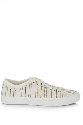 Fred Perry Kendrick Tipped Cuff Retro Stripe Canvas Ayakkabı