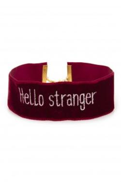 Fineapple Burgundy Hello Stranger Choker