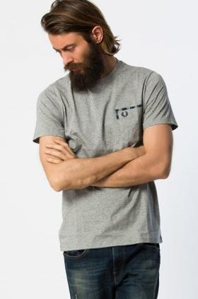 Fred Perry Tartan Trim Pocket Tshirt
