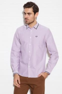 Fred Perry Embroidered Oxford M4266 Mor Gömlek