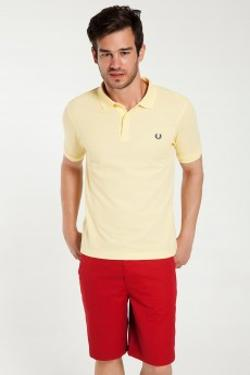 Fred Perry 151 Slim Fit Fred Perry Sarı Tişört M6000