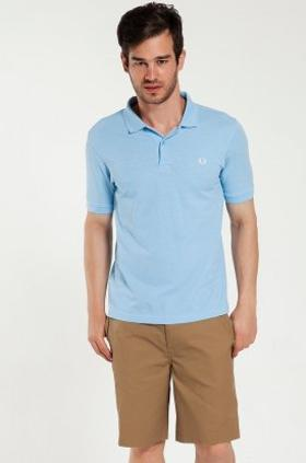 Fred Perry 151 Slim Fit Fred Perry Mavi Tişört M6000