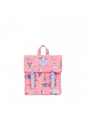Herschel Survey Kids-Paris Pink/Deep Periwinkle Rubber