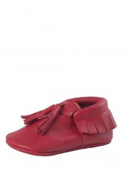 Moots Baby Moccasins Red Tassel Ayakkabı