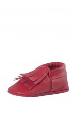 Moots Baby Moccasins Red DouBle Tassel Ayakkabı