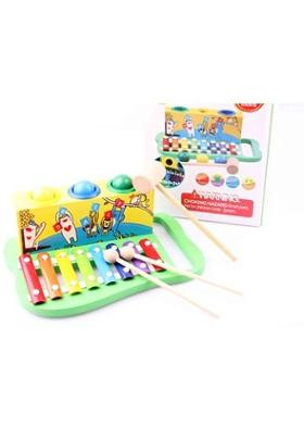 Learning Toys Wooden Knock The Ball Piano
