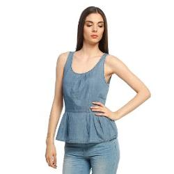 Only Jean Bluz Stacy Peplum 15087203-MBLD