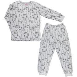 Baby Center Civil Girls Penye Pijama Takımı 2-6 Yaş Gri