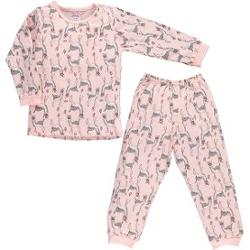 Baby Center Civil Girls Penye Pijama Takımı 2-6 Yaş Pudra