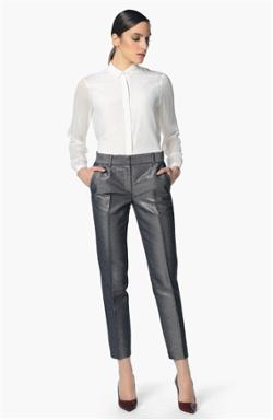 Network Gri Smart Casual Pantolon