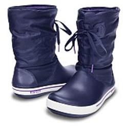 Crocs Crocband II.5 Lace Boot Women - Nautical Navy-Neon Purple