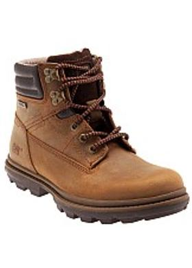 Caterpillar Goldfield WP Erkek Bot - Dark Brown (Nubuk)