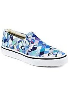 Sperry Striper S/O Diamond Print - Mavi