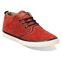 Quiksilver Griffin Suede - Red-Grey-Black
