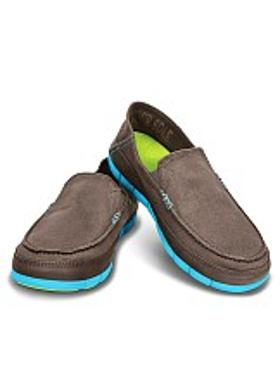 Crocs Stretch Sole Loafer Men - Pewter-Electric Blue