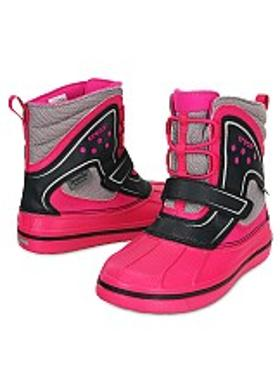 Crocs AllCast Waterproof Boot - Candy Pink-Black
