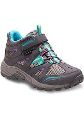 Merrell Hilltop Mid Quick-Close Waterproof Çocuk - Grey-Multi