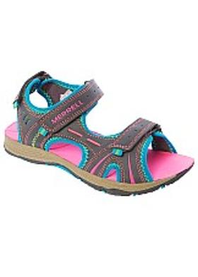 Merrell Panther Sandal Girls' - Gray-Turquoise