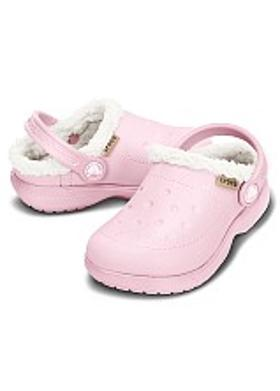 Crocs ColorLite Lined Clog Kids - Pearl Pink-Oatmeal