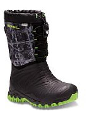 Merrell Snow Quest Waterproof - Black-Green-Print