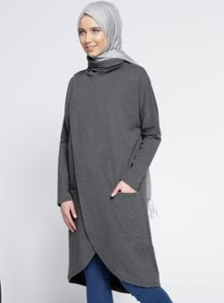 Everyday Basic Anvelop Tunik - Gri