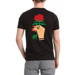 Köstebek Red Nail and Red Rose - Harajuku Erkek (Unisex) T-Shirt