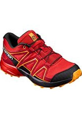 Salomon Speedcross J - Fiery Red-Black-Bright Marigol