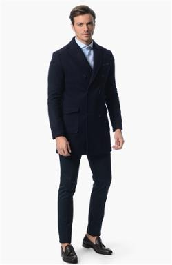 Network Smart Casual Lacivert Palto