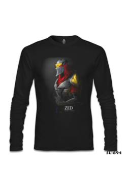 Lord League Of Legends - Zed Mask Siyah Erkek T-Shirt