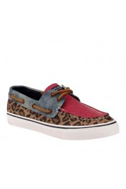 Sperry Sts99131 Sperry Bahama Trı-tone - CHEETAH BLUE RED
