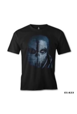 Lord Call Of Duty Ghosts Mask Siyah Erkek T-Shirt
