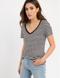 Levi's Perfect Vneck Tee Willow Marshmallow/Bla