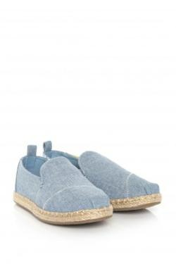 Toms Blue Slub Chambray Wm Decnalp Esp