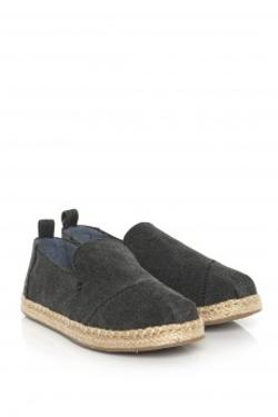 Toms Blk Washed Canvas Wm Decnalp Esp