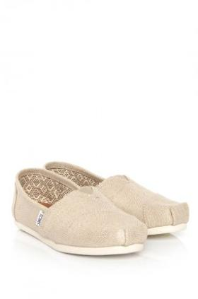 Toms Natural Metallıc Burlap Wm Alpr Esp