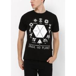 Köstebek K-Pop Exo - From Exo Planet Erkek (Unisex) T-shirt