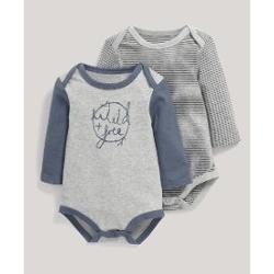 Mamas Papas M&P 2 Lİ BODYSUIT GRİ