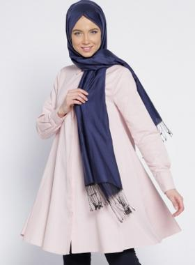 Everyday Basic Gizli Düğmeli Salaş Tunik - Pembe