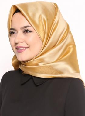 Miray Abiye Tafta Eşarp - Gold
