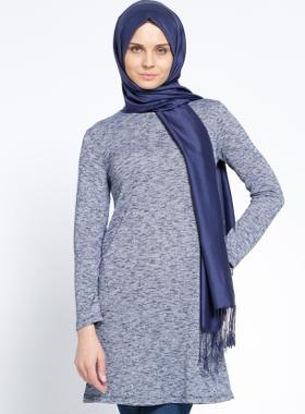 Everyday Basic Melanj Basic Tunik - Lacivert