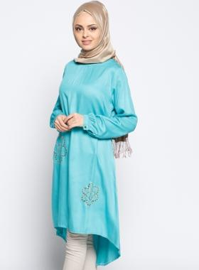 CML Collection Drop Baskılı Tunik - Mint