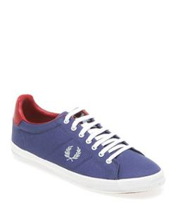 Fred Perry B5204w Fred Perry Howells Brushed Twill 685 Pacific/ Silver Blue/ Rosso