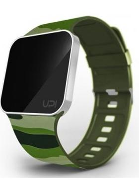 Up! Watch Grade Silver Green Camouflage