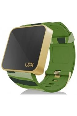 Up! Watch TOUCH Shiny Gold&Green Camouflage