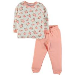 Baby Center Civil Girls Penye Pijama Takımı 2-6 Yaş Somon